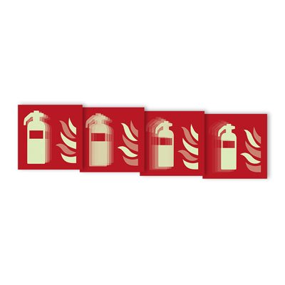 """Seton Motion® Fire Protection Sign """"Fire Extinguisher"""""""