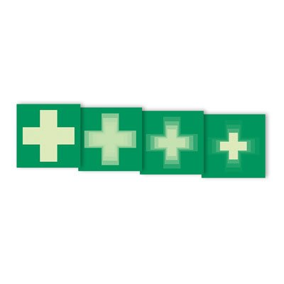 "Seton Motion® Photoluminescent First Aid Sign ""First Aid Symbol"""