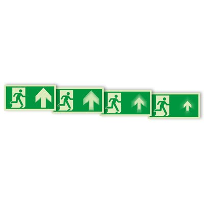 "Seton Motion® Running Man Escape Route Sign ""Exit Up"""