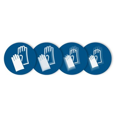"""Seton Motion® Mandatory Sign """"Hand Protection Required"""""""