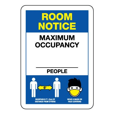 Room Notice Maximum Occupancy Sign
