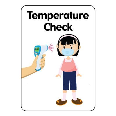 Temperature Check Sign