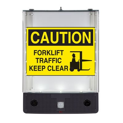 Seton Safety Sign Alerter Kit - Forklift Traffic Keep Clear