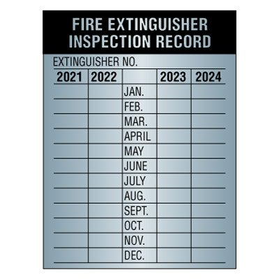 50- METAL FIRE EXTINGUISHER  4-YEAR INSPECTION TAG 2019-20-21-22 BLOWOUT SALE!!