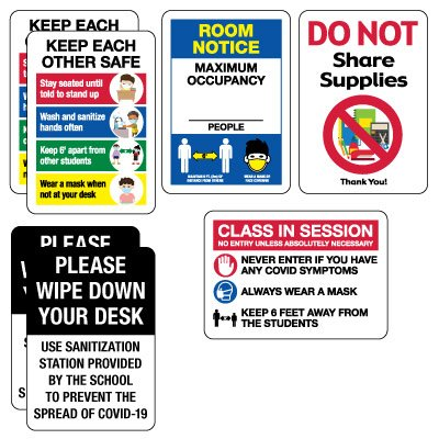 Social Distancing Signage Kit for Classrooms #2