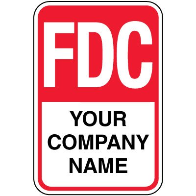 Semi-Custom FDC Sign - Your Company Name