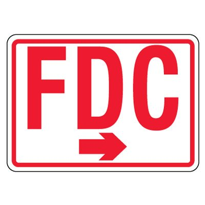 Reflective FDC Signs - Left Arrow, Red on White
