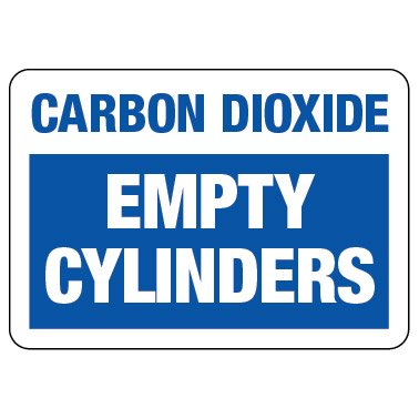 Cylinder Status Sign: Carbon Dioxide - Empty Cylinders