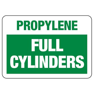 Cylinder Status Sign: Propylene - Full Cylinders