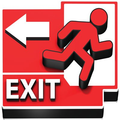 3D Floor Marker - Exit Left