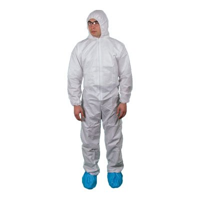 Keystone White KeyGuard® Disposable Coverall, Size M