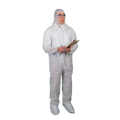 Keystone White Polypropylene Disposable Coveralls  - White 3XL