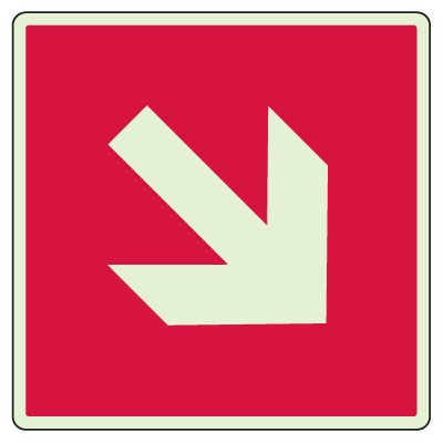 Down/Up Stairway Arrow Sign