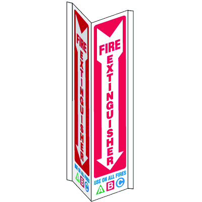 Fire Extinguisher Use On All Fires 3-Way View Fire Safety Signs