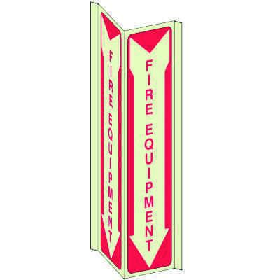 Fire Equipment 3-Way View Fire Safety Signs