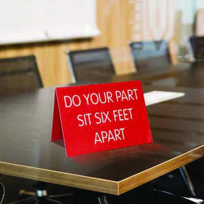 Engraved Table-Top Tent Signs