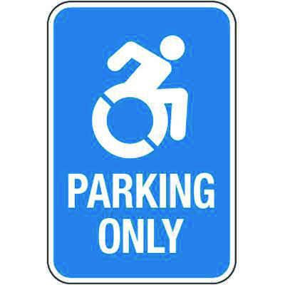 Accessible Parking Symbol Signs - Handicapped Parking Only