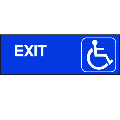 Handicapped Accessible Route Signs - Exit