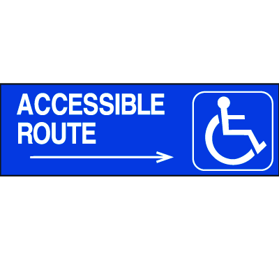 Handicapped Accessible Route Signs - Accessible Route