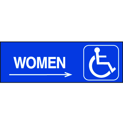 Handicapped Accessible Route Signs - Women