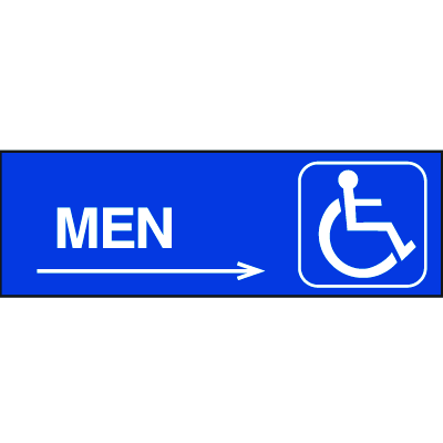 Handicapped Accessible Route Signs - Men