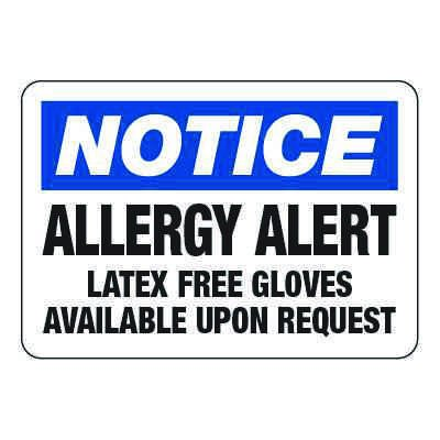 Allergy Alert - Allergy Awareness Signs