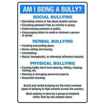 Am I Being A Bully? - No Bullying Signs