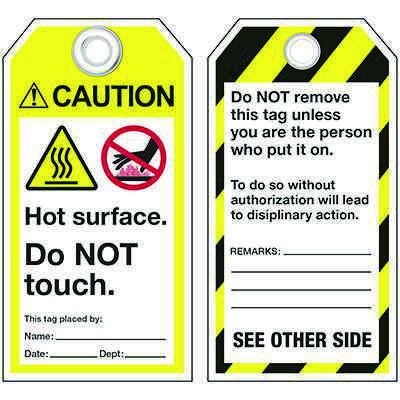 ANSI Hot Surface Information Tags