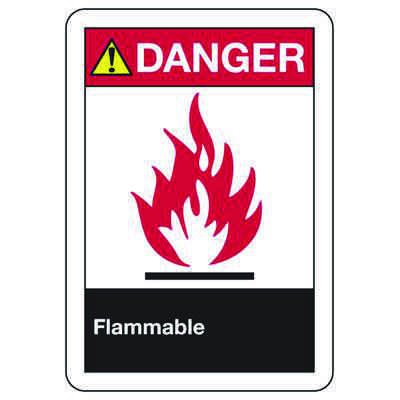 ANSI Signs - Danger, Flammable (Graphic)