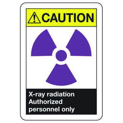 ANSI Signs - Caution X-Ray Radiation, Authorized Personnel Only