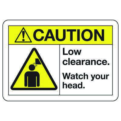ANSI Z535 Safety Signs - Caution Low Clearance
