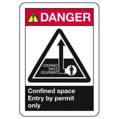 ANSI Z535.2-2011 Safety Signs - Danger Confined Space Enter By Permit Only