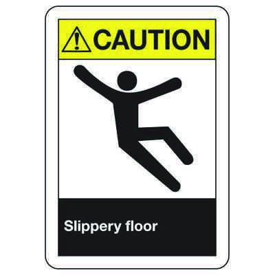 ANSI Z535 Safety Signs - Caution Slippery Floor