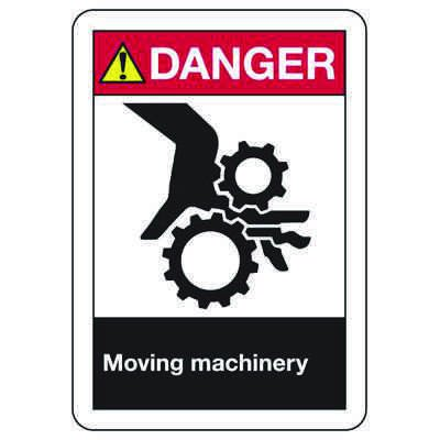 ANSI Z535 Safety Signs - Danger Moving Machinery