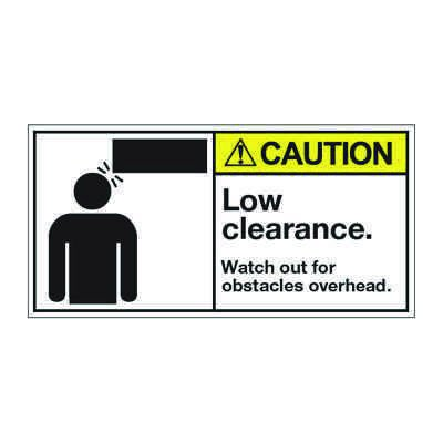 ANSI Z535 Safety Labels - Caution Low Clearance