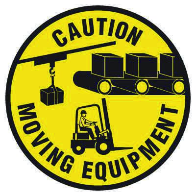 Anti-Slip Floor Markers - Caution Moving Equipment