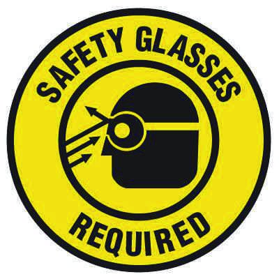Anti-Slip Floor Markers - Safety Glasses Required