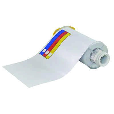BBP®85 Series Label: Vinyl, Blue/Red/Yellow on White, 7 in H x 10 in W