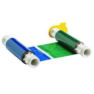 BBP®85 Series Printer Ribbon: R10000, Black/Blue/Green/Red, 6.25 in W x 200 ft L, 8 in Panels