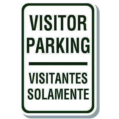 Visitor Parking Signs - Visitantes Solamente (English/Spanish)