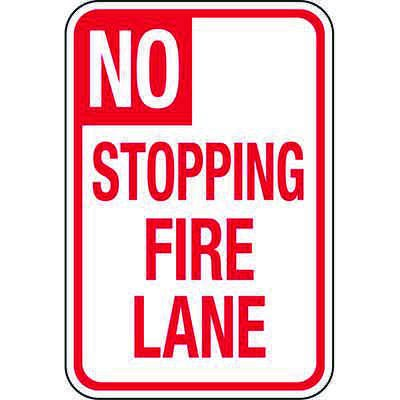 California Traffic & Parking Signs - No Stopping Fire Lane