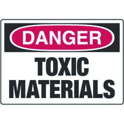 Chemical Signs - Danger Toxic Materials