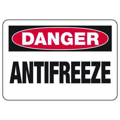 Chemical Signs - Danger Antifreeze