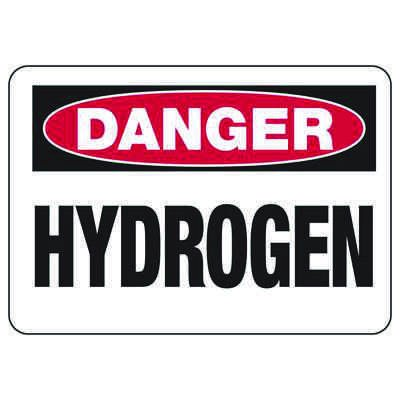 Danger Signs - Hydrogen