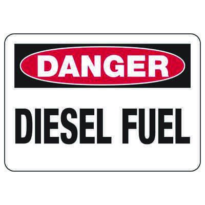 Chemical & HazMat Signs - Danger Diesel Fuel