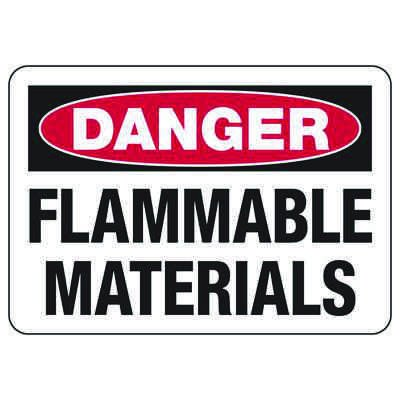Danger Signs - Flammable Materials
