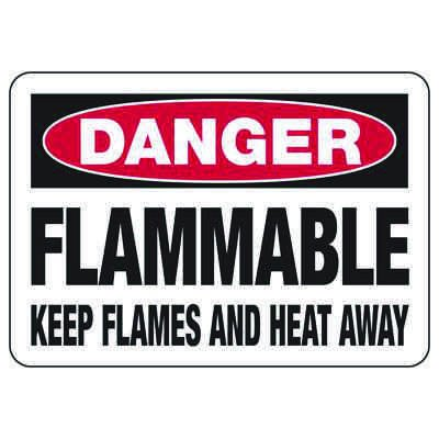 Danger Flammable - Industrial Chemical Warning Sign