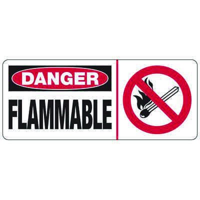 Danger Flammable (Graphic) - Industrial Chemical Signs