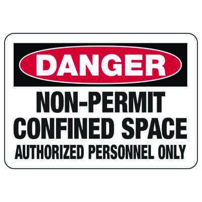 Confined Space Signs - Danger - Non-Permit Confined Space