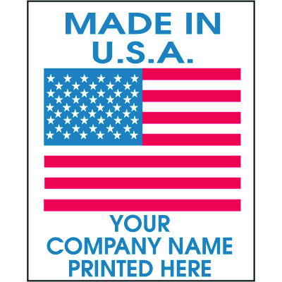 Custom Country Of Origin Labels - Made in the U.S.A.